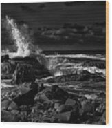 First Light - Kennebunkport Maine Wood Print
