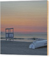 First Light On Ocean City New Jersey Beach Wood Print