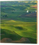 First Light On The Palouse Wood Print