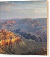 First Light Over Grand Canyon, Arizona, Usa Wood Print