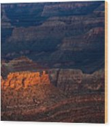 First Light Over Yavapai Point  Grand Canyon Wood Print