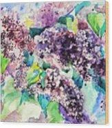 First Lilac. Wood Print