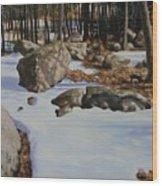 First Melt Wood Print