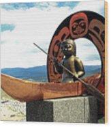 First Nation Sculpture Wood Print