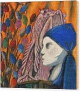 First Oil Pastel Wood Print