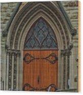 First Presbyterian Church Door Wood Print