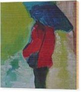 First Rain Wood Print