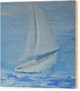 First Sail Wood Print