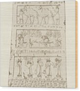 First Side Of Obelisk, Illustration From Monuments Of Nineveh Wood Print