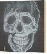 First Skull Work Wood Print