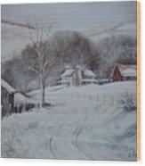 First Snow- Banner Elk Wood Print