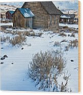 First Snow  Bodie Wood Print