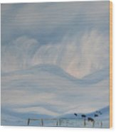 First Snow Storm Madison County 2015 Wood Print