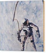 First Spacewalk Wood Print