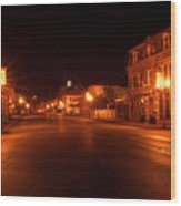 First Street Nocturne Wood Print