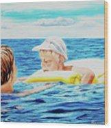 First Swimming - Nadar Primero Wood Print