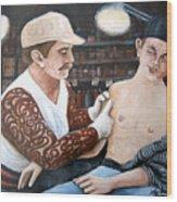 First Tattoo Wood Print