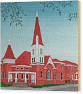 First United Methodist Church  Terrell Tx Wood Print