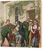 First Vaccination, 1796 Wood Print