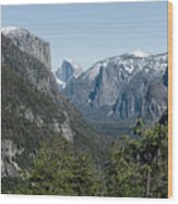 First View Of Yosemite Valley Wood Print