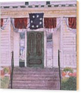 First White House Of The Confederacy Wood Print