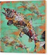 Fish And Bourbon Wood Print