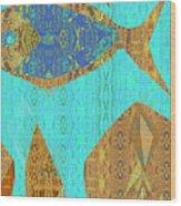 Fish And Loaves Wood Print