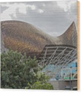 Fish By Frank Owen Gehry - Olympic Village - Barcelona Spain Wood Print