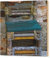 Fish Chair Wood Print