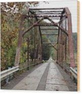 Fish Creek Bridge Wood Print by Terry  Wiley