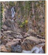 Fish Creek Fallin Wood Print