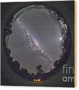 Fish-eye Panorama Of The Southern Night Wood Print