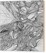 Fish Eye Tusk Wood Print