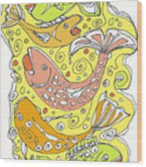 Fish Fish Wood Print