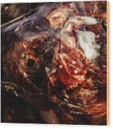 Fish Heads 02 Wood Print by Grebo Gray