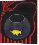 Fish In A Bowl Wood Print