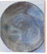 Fish -in -a -pond Plate Wood Print by Julia Van Dine