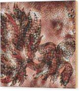 Fish In Cinnamon Mosaic 1 Wood Print