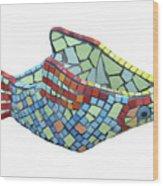 Fish Wood Print by Katia Weyher