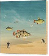 Fish Life  Wood Print