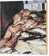 Fish Market On The Isle Of Capri,italy Wood Print