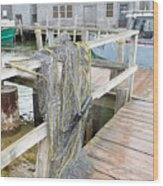 Fish Net Wood Print