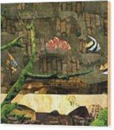 Fish Of The Brick Wood Print
