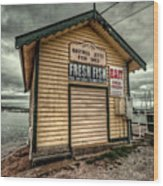 Fish Shed Wood Print