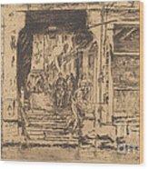 Fish-shop, Venice Wood Print