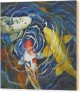Fish Soup Wood Print by Pat Burns