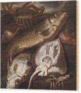 Fish Still Life Wood Print