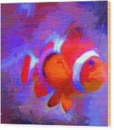 Fish Two Wood Print