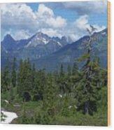 Fisher Chimney and Mt. Shuksan Wood Print