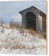 Fisher Covered Railroad Bridge Wood Print